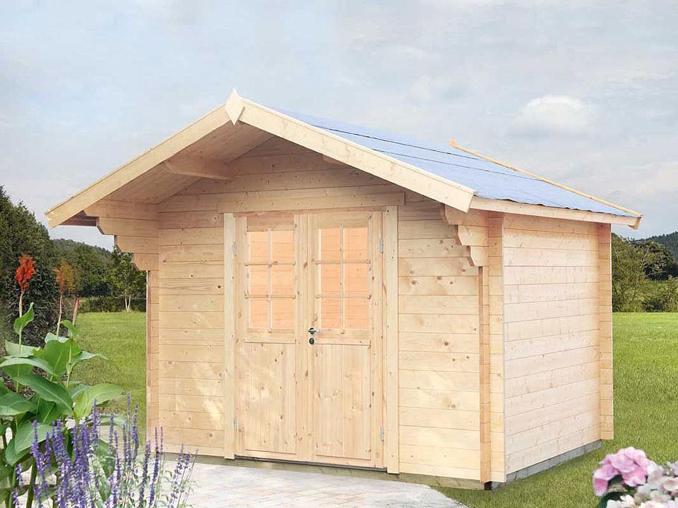 <p>Gartenhaus Mona 34 C</p>  <p>300 x 360 cm, 34 mm</p>