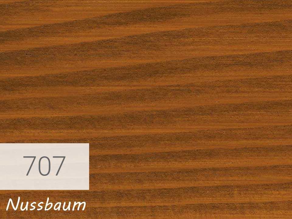 <p>Holzschutz-Öl-Lasur</p>  <p>707 Nussbaum á 0,75 Liter</p>