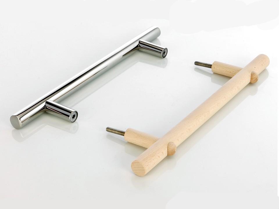 <p>Türgriff-Set für Glastüre</p>  <p>Edelstahl / Holz</p>