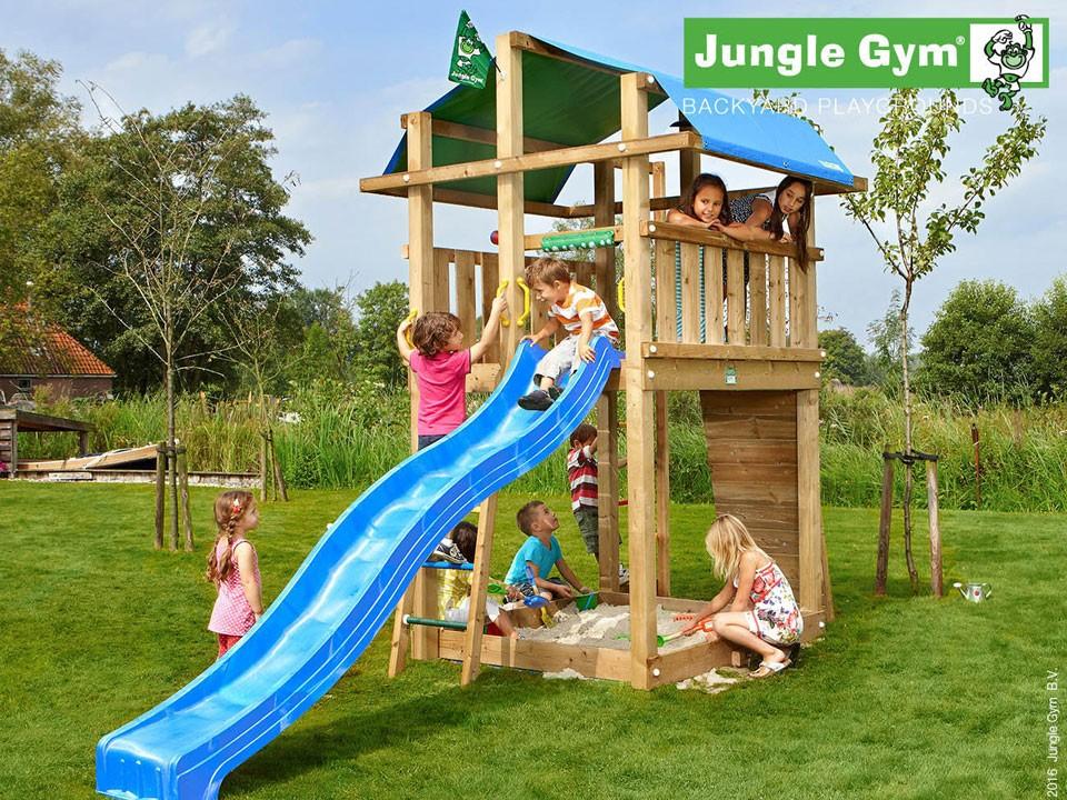 <p>Jungle Gym Fort</p>  <p>aus druckimprägniertem&nbsp;Nadelholz, inkl. Rutsche</p>