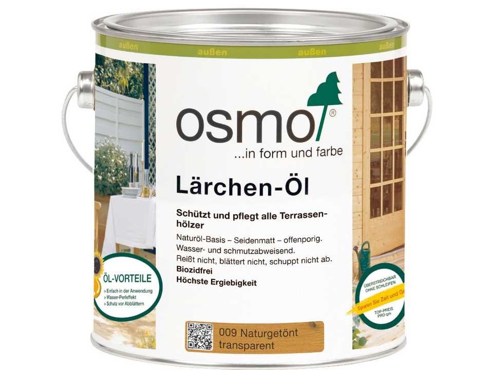 <p>Lärchen-Öl getönt Nr. 009</p>  <p>0,75 und 2,5 Liter Gebinde</p>