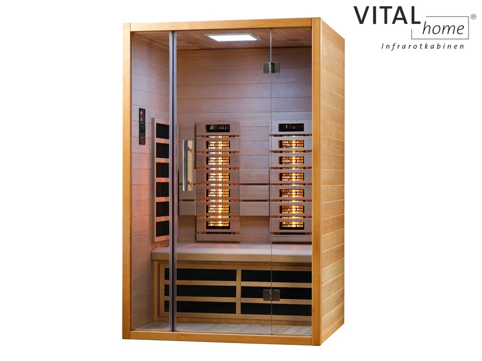 <p>Infrarotkabine&nbsp; 120 x 105 cm</p>  <p>VITAL Home Sunlight 120</p>