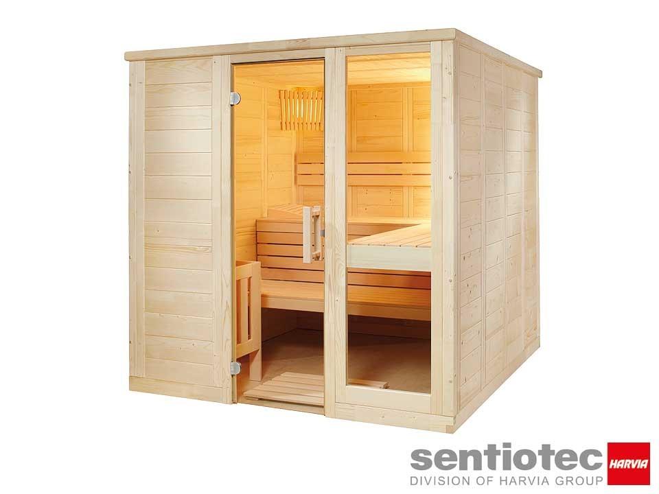 <p>Saunakabine 208&nbsp;x 206&nbsp;cm</p>  <p>Sentiotec Komfort Large</p>