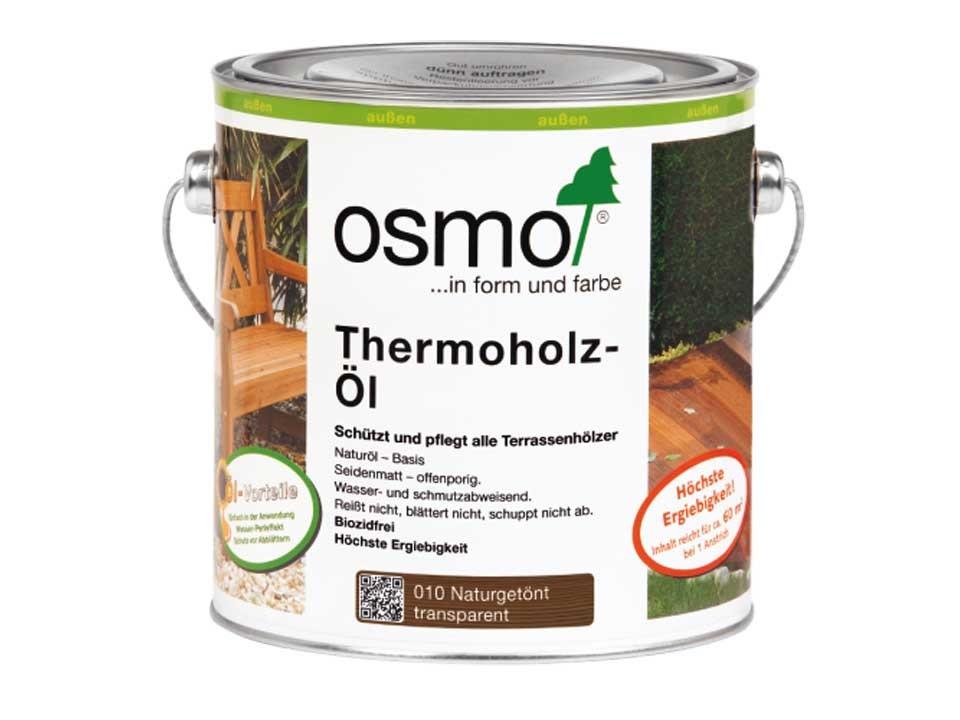 <p>Thermoholz-Öl getönt&nbsp;Nr. 010</p>  <p>0,75 und 2,5 Liter Gebinde</p>