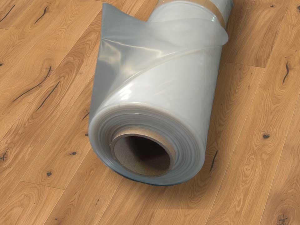 <p>Kunststoff-Folie 0,20 mm</p>  <p>Rolle á 100 m² (50 x 2m)</p>
