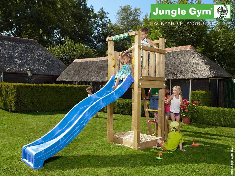 <p>Jungle Gym Tower</p>  <p>aus druckimprägniertem Nadelholz, inkl. Rutsche</p>