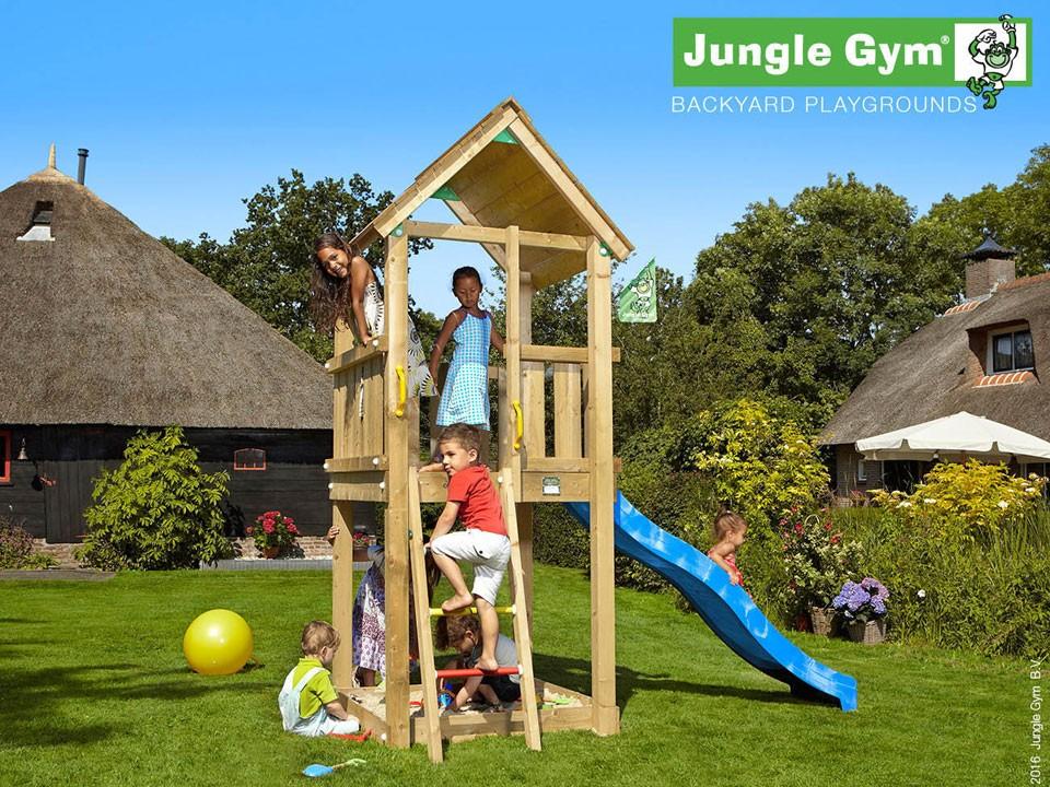<p>Jungle Gym Club</p>  <p>aus druckimprägniertem Nadelholz, inkl. Rutsche</p>