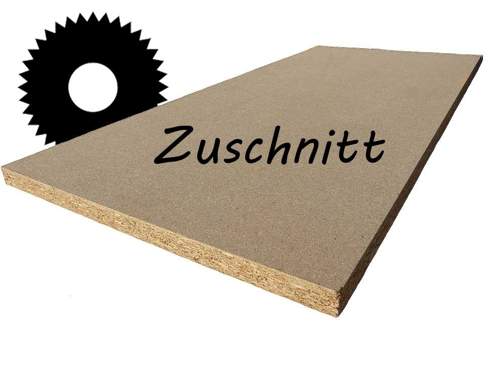 <p>Rohspanplatte 16 mm</p>  <p>Zuschnitt</p>