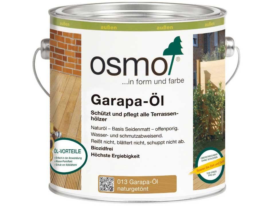 <p>Garapa-Öl naturgetönt, Nr. 013</p>  <p>0,75 und 2,5 Liter Gebinde</p>