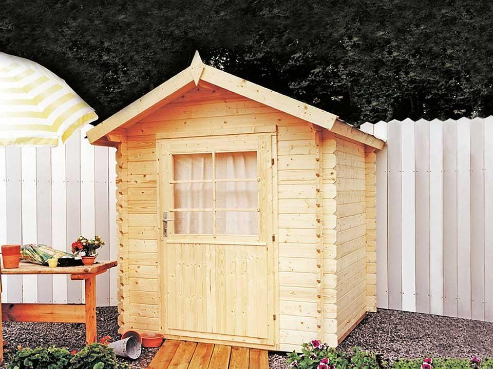 <p>Gartenhaus Max 28</p>  <p>180 x 180 cm, 28 mm</p>