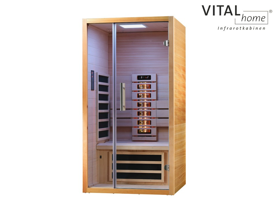 <p>Infrarotkabine&nbsp; 90 x 105 cm</p>  <p>VITAL&nbsp;Home Sunlight 90</p>
