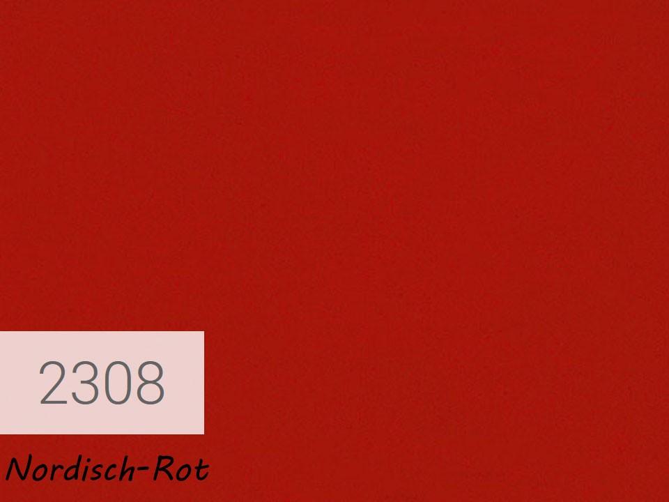 <p>OSMO Landhausfarbe</p>  <p>Nordisch Rot, Nr. 2308, 0,75 l</p>