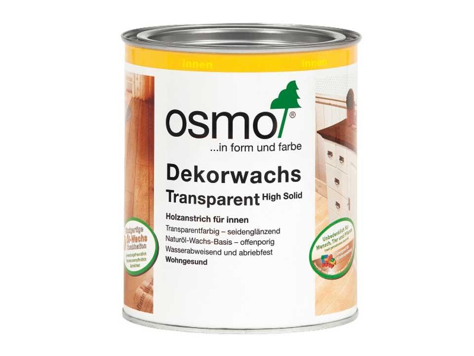 <p>Osmo Dekorwachs tran.</p>  <p>alle Farben &amp; Größen</p>