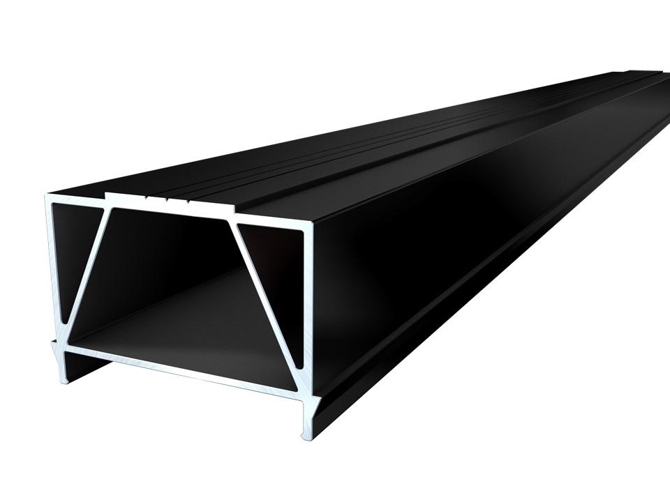 <p>Unterkonstruktion Alu-BIG</p>  <p>45 x 64 mm, 4m, schwarz</p>