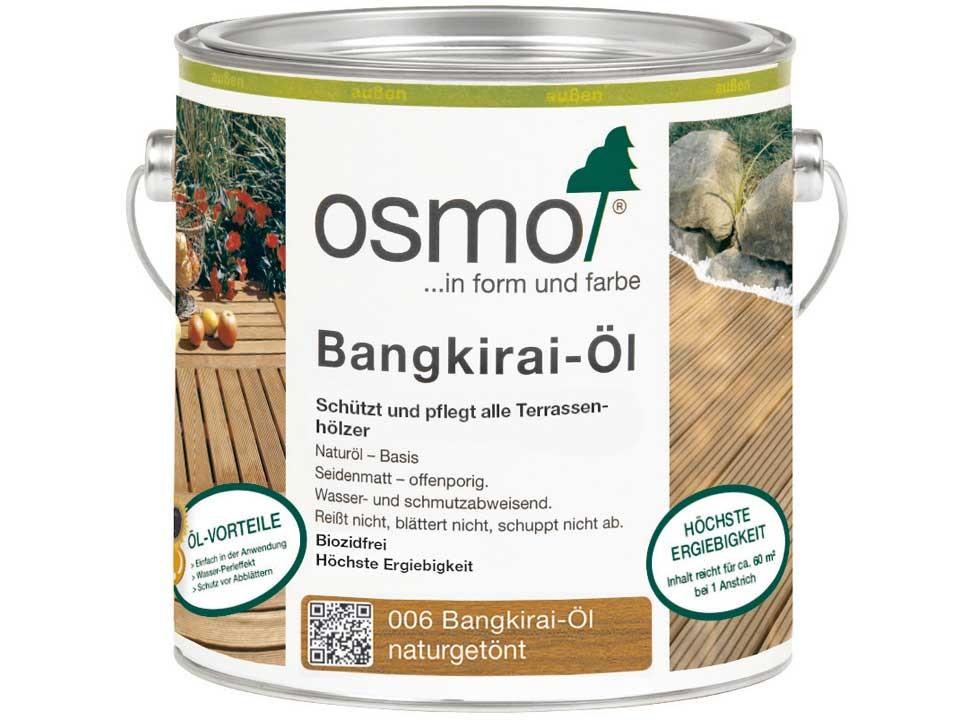 <p>Bangkirai-Öl naturgetönt&nbsp;006</p>  <p>0,75 und 2,5 Liter Gebinde</p>