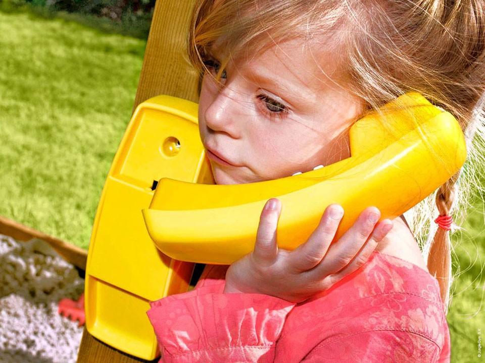 <p>Jungle Gym Spieltelefon</p>  <p>aus Kunststoff, gelb</p>