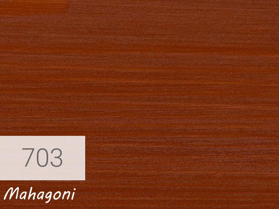 <p>Holzschutz-Öl-Lasur</p>  <p>703 Mahagoni á 0,75 Liter</p>