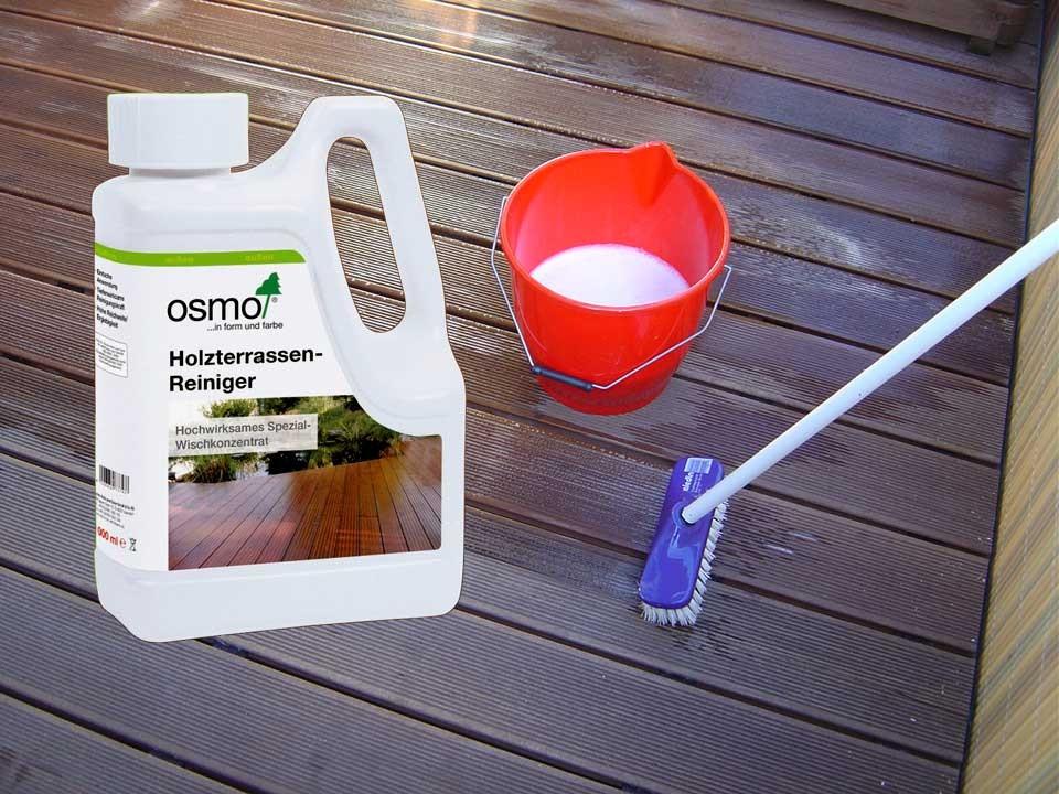 <p>Osmo Holzterrassen-Reiniger</p>  <p>1&nbsp;Liter Gebinde</p>