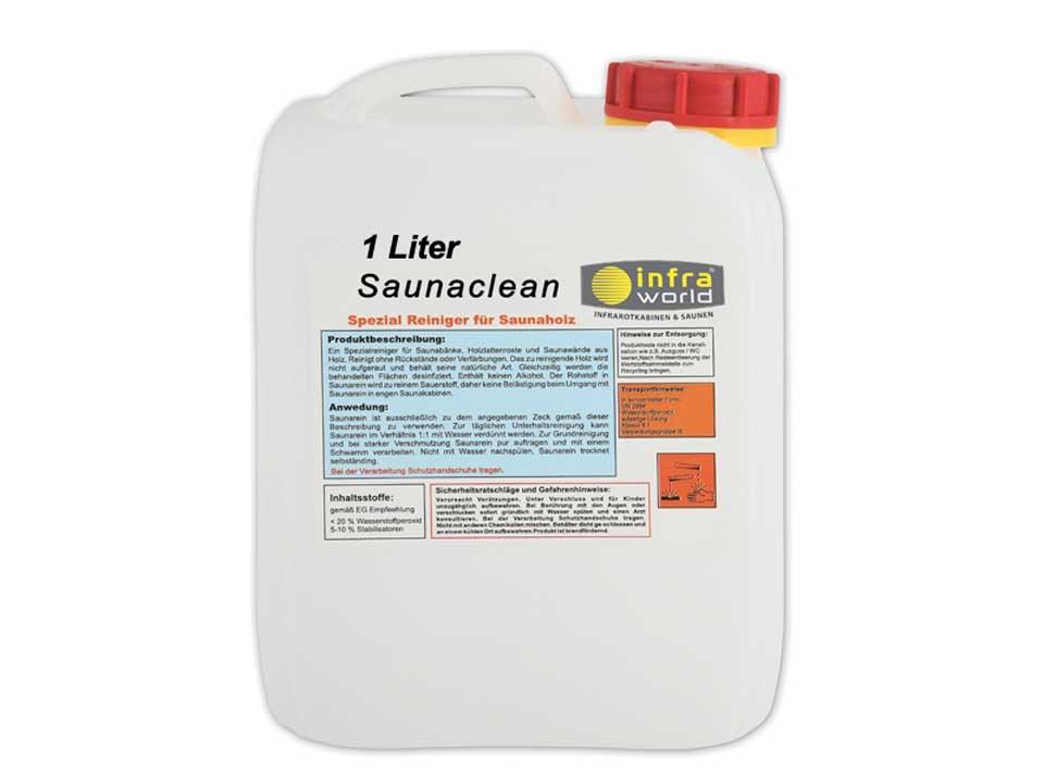 <p>Saunareiniger 1 Liter</p>  <p>für Holzbanklatten</p>