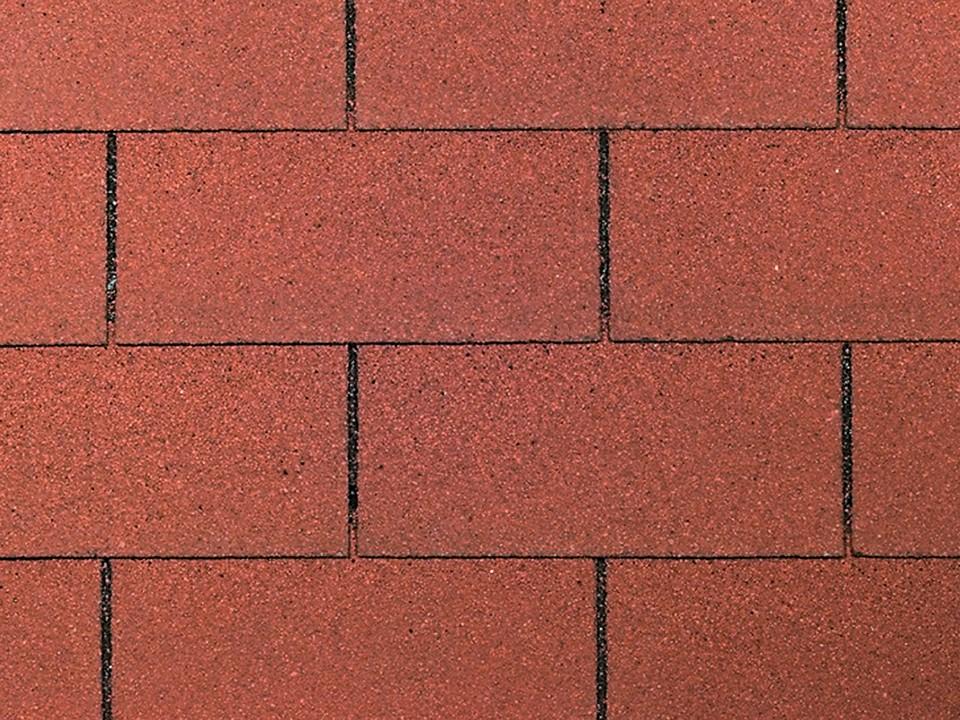Bitumen-Dachschindeln<br /> rechteck, rot