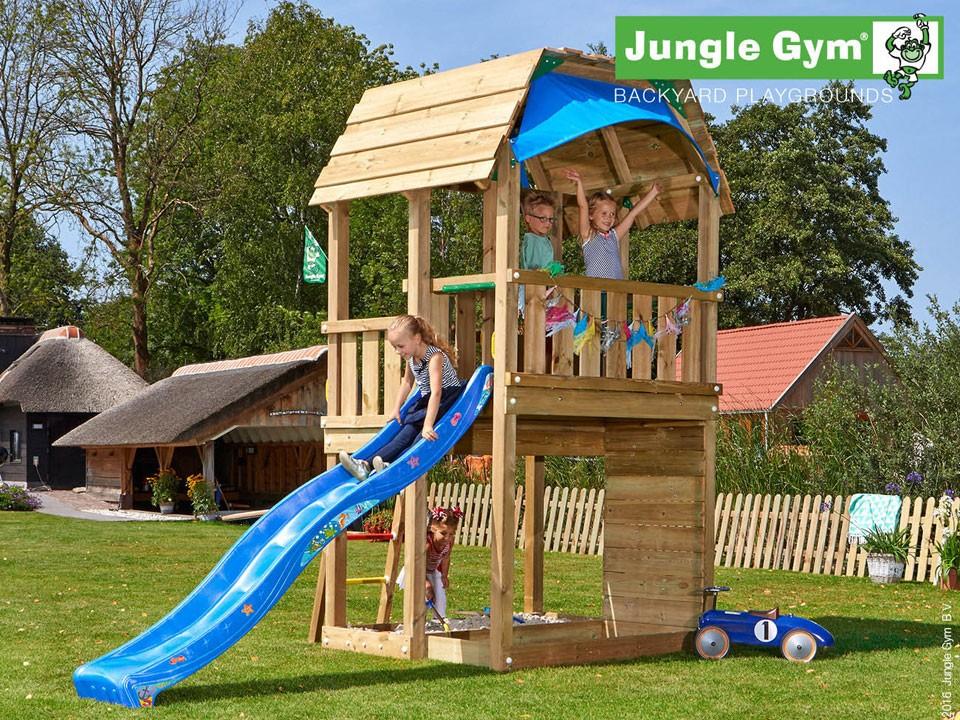 <p>Jungle Gym Barn</p>  <p>aus druckimprägniertem&nbsp;Nadelholz, inkl. Rutsche</p>