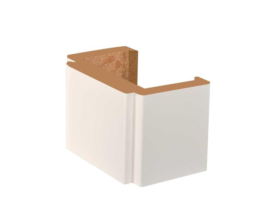 <p>Türzarge Kunex FZ6-R</p>  <p>Weiß glatt 31 - 40 cm</p>