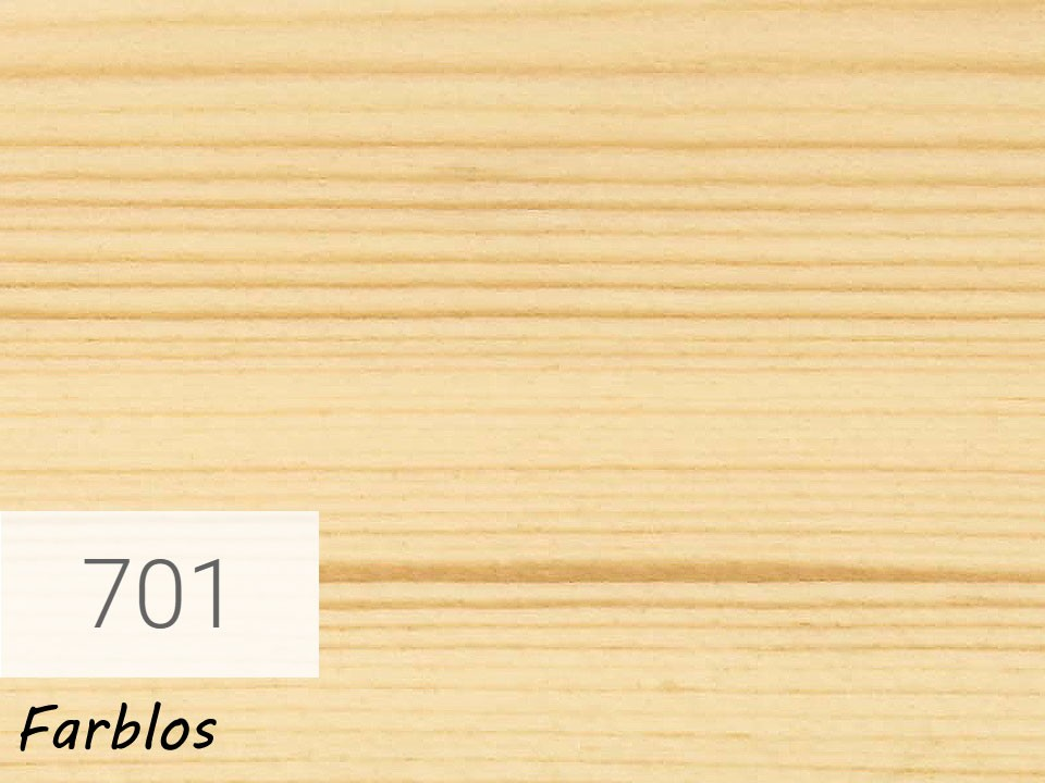 <p>Holzschutz-Öl-Lasur</p>  <p>701 Farblos á 0,75 Liter</p>