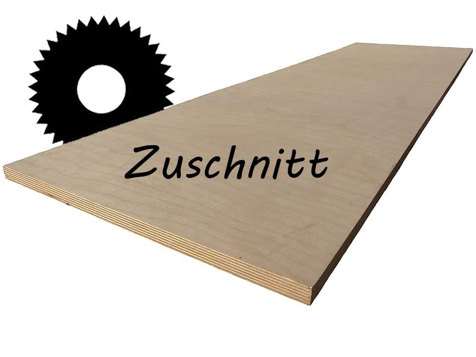 <p>Sperrholzplatte 18&nbsp;mm, Birke</p>  <p>Zuschnitt bis max. 150x300 cm</p>