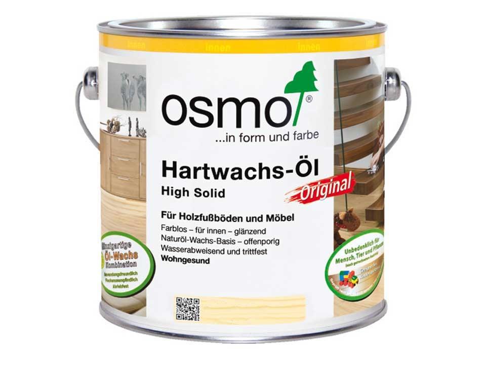 <p>Osmo Hartwachs-Öl</p>  <p>Weiß 3040, 0,75 Liter</p>