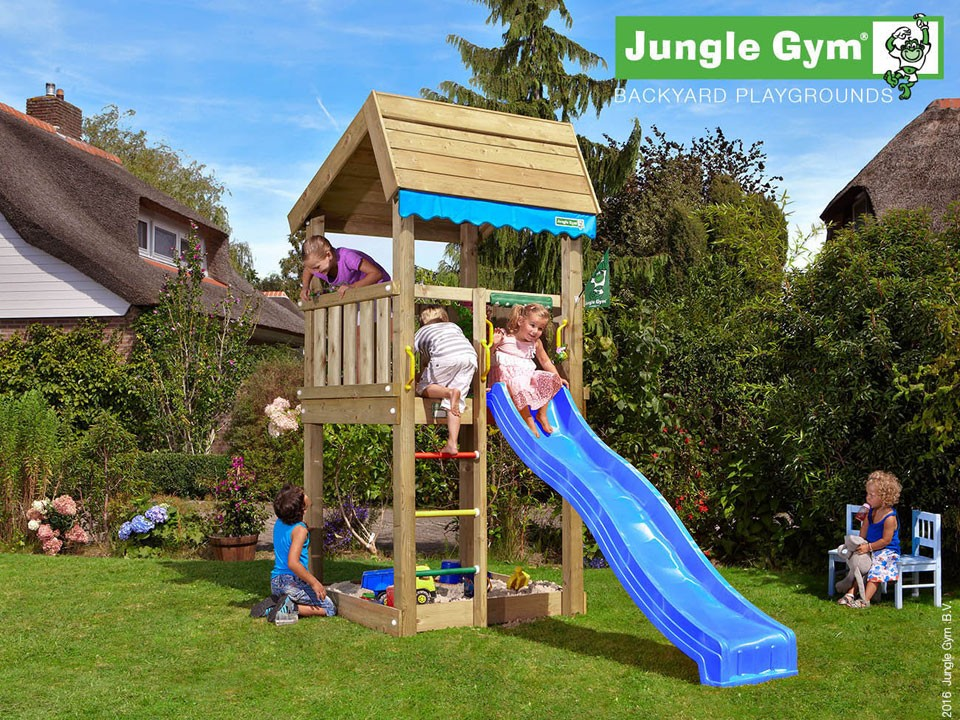 <p>Jungle Gym Home</p>  <p>aus druckimprägniertem Nadelholz, inkl. Rutsche</p>
