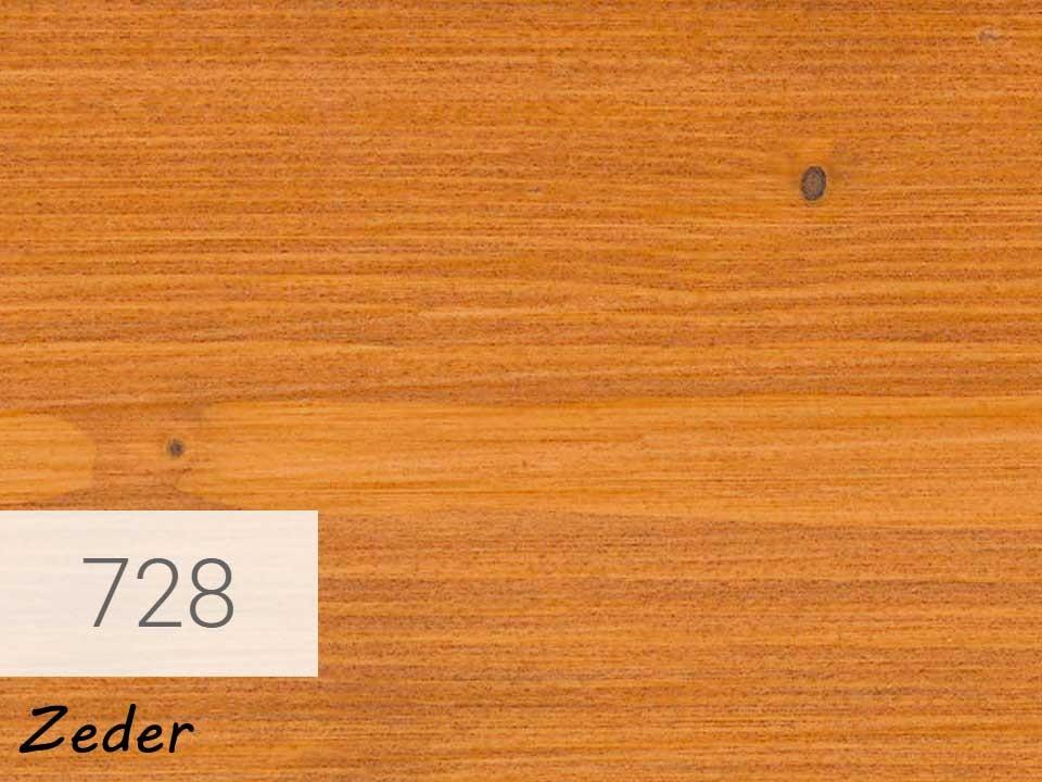 <p>Holzschutz-Öl-Lasur</p>  <p>728 Zeder á 2,5 Liter</p>