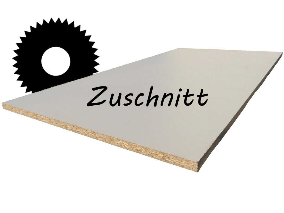 <p>Dekorspanplatte 19 mm</p>  <p>weiß, Zuschnitt</p>