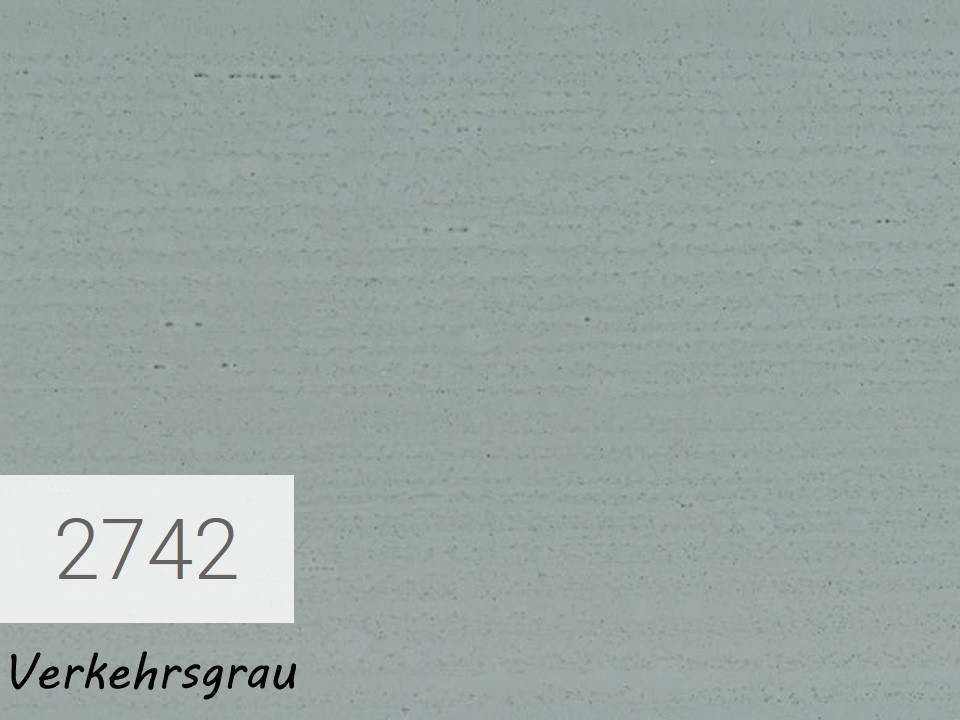 <p>OSMO Landhausfarbe</p>  <p>Verkehrsgrau, Nr. 2742, 0,75 l</p>