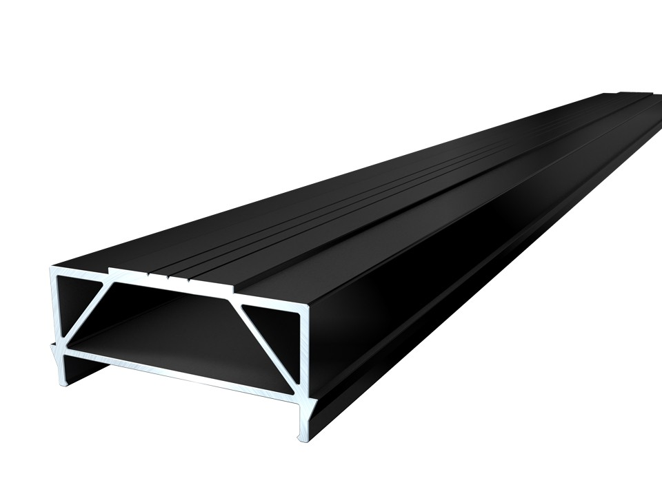 <p>Unterkonstruktion Alu-TWIXT</p>  <p>30 x 64 mm, 4m, schwarz</p>