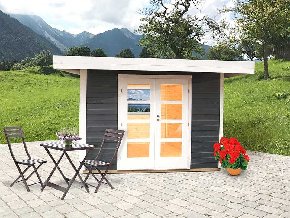 Gartenhaus Relax B 295 x 241 cm, Anthrazit