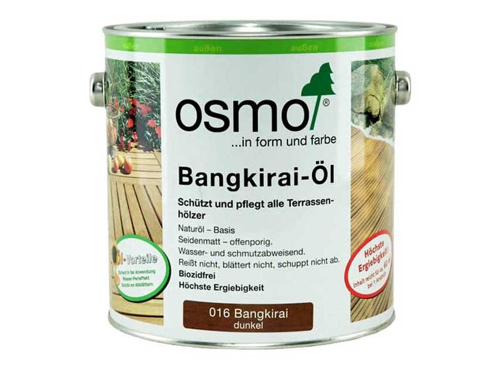 <p>Bangkirai-Öl dunkel&nbsp;Nr. 016</p>  <p>0,75 und 2,5 Liter Gebinde</p>