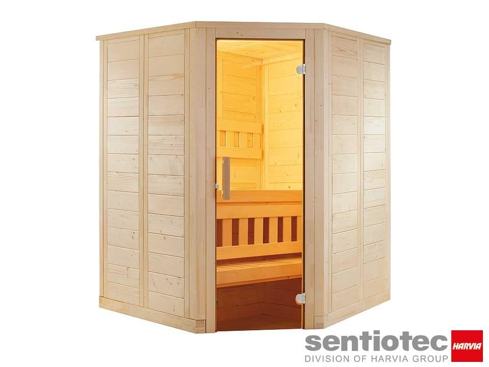 <p>Saunakabine 145 x 145&nbsp;cm</p>  <p>Sentiotec Wellfun Mini</p>