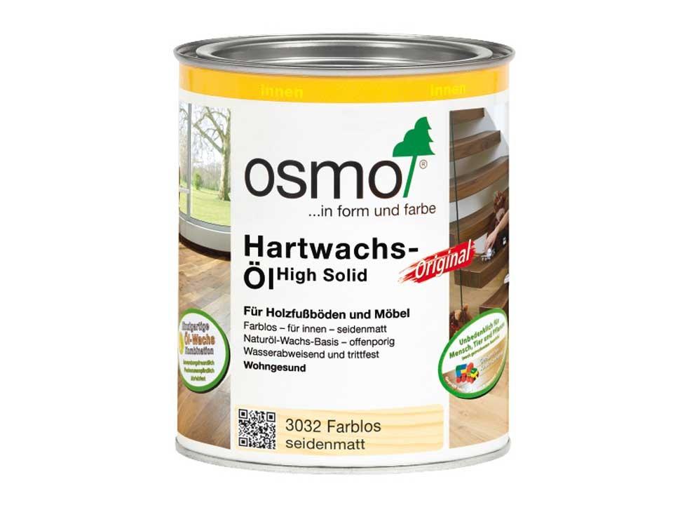 <p>Osmo Hartwachs-Öl</p>  <p>Seidenmatt 0,75 Liter</p>