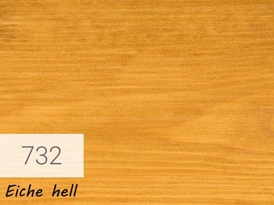 <p>Holzschutz-Öl-Lasur</p>  <p>732 Eiche hell á 0,75 Liter</p>