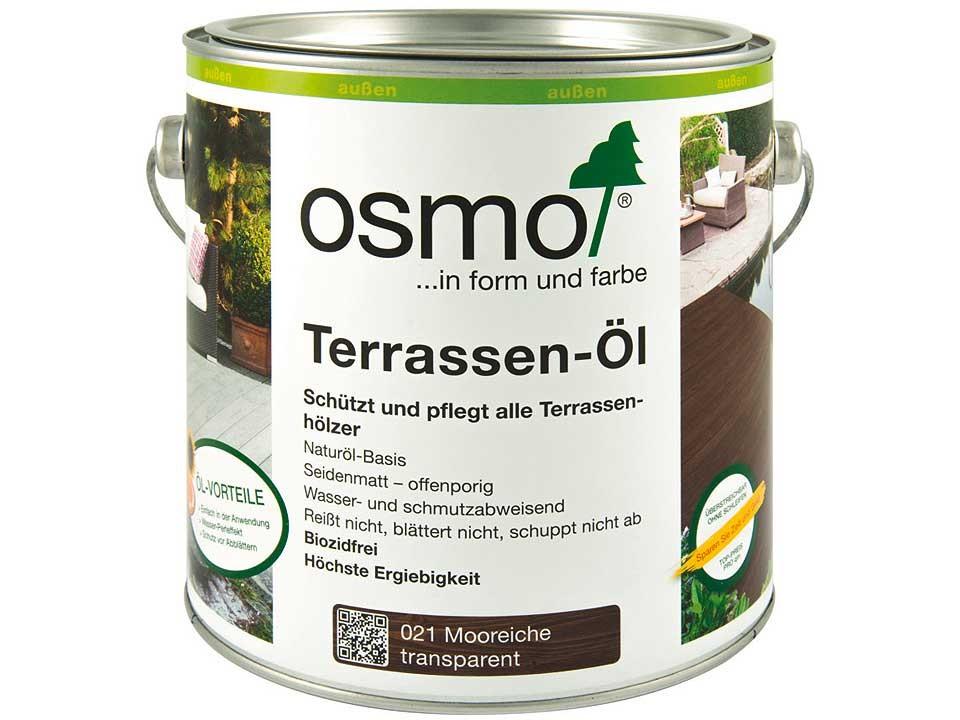 <p>Mooreichen-Öl getönt, Nr. 021</p>  <p>0,75 und 2,5 Liter Gebinde</p>